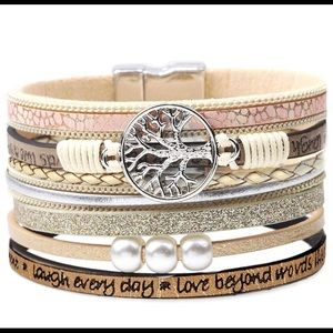 Jewelry - Multi-Layered Leather Bracelet
